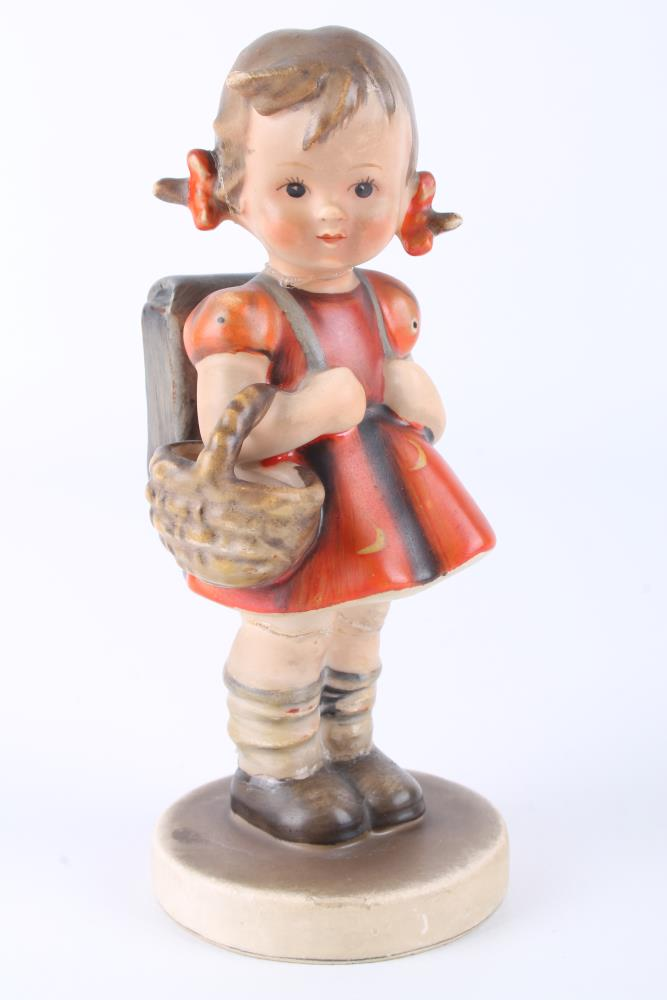 HUMMEL Kronenmarke Porzellan Figur um 1935 Erster Schultag Skulptur ...